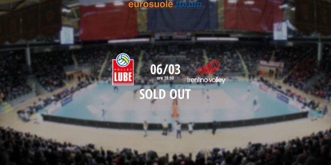 Sold out per il match tra Cucine Lube e Diatec Trentino
