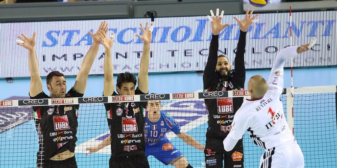 Ancora una vittoria per la Lube in SuperLega UnipolSai. Liquidata in 4 set la Revivre Milano