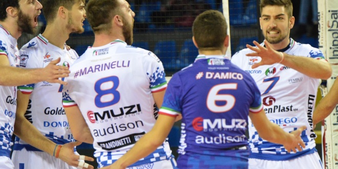 Match tutto marchigiano stasera all'Eurosuole Forum di Civitanova tra GoldenPlast e Videx Grottazzolina