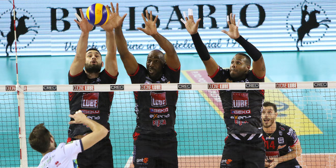 Lube Civitanova in finale scudetto. Superato Trento in tre set