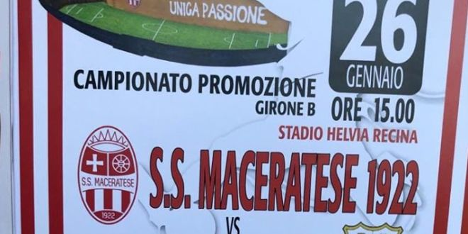 Maceratese in campo con Corridonia. Necessario vincere per rimanere tra le prime in classifica